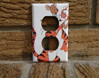 Tigger and Piglet Electrical Cover, Winnie the Pooh, Winne the Pooh Decor, Decoration, Winnie Nursery, Baby Shower, Tigger, Piglet, WTP20