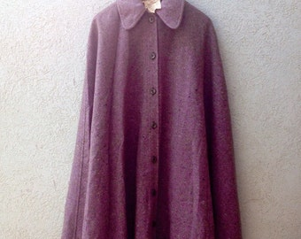 Vintage Authentic YSL 1970 70s  Yves Saint Laurent  Rive Gauche Wool Cape