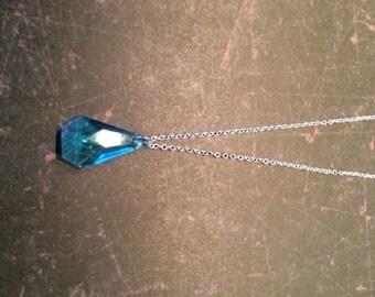 Aquamarine - Aquamarine Necklace - Aquamarine Jewelry - Aquamarine Pendants - Birthstone - March Birthstone - Aquamarine Teardrop Necklace