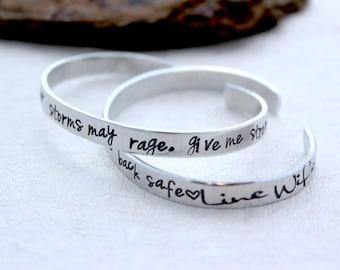 Lineman Wife Bracelet - Lineman Wife Prayer - Lineman Jewelry - Love my Lineman - Lineman Mom Jewelry - Lineman Gift -Power Lineman Bracelet