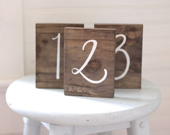 Wedding Table Numbers, Rustic Wedding Signs, Wooden Table Numbers, The Paper Walrus