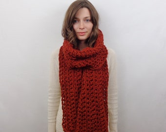 Giant Chunky Knit Scarf Wool | THE ATHENS