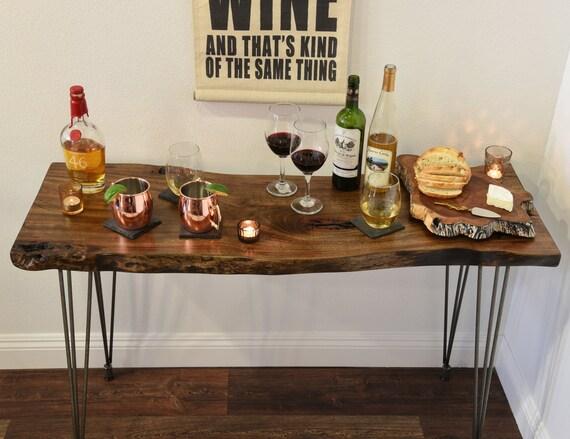Reclaimed live edge buffet console table desk