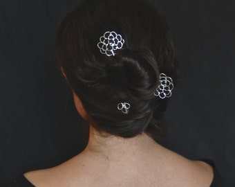 Argentium Shawl Pin or Hair Pin