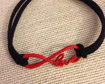 Red&Black Love Infinity Symbol Bracelet