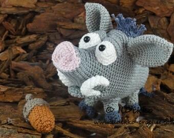 Amigurumi Crochet Pattern - Wilbur the Wild Boar