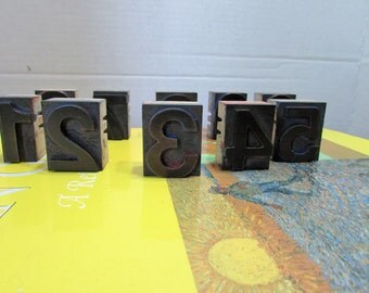 LETTER PRESS NUMBERS
