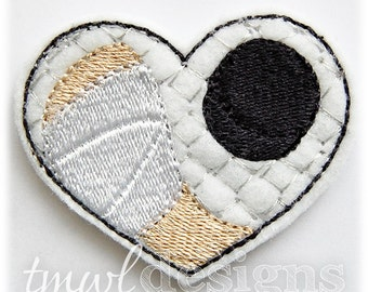 "Hockey Heart Feltie Digital Design File - 1.75"""