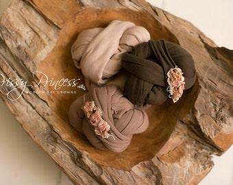 Newborn Wrap, Knit Wrap, jersey Wrap, Wrap, Baby Wrap, Photo Prop, Stretch Wrap, Accessories, Photo, Newborn, Prop, Brown, Cedar, Woodstock