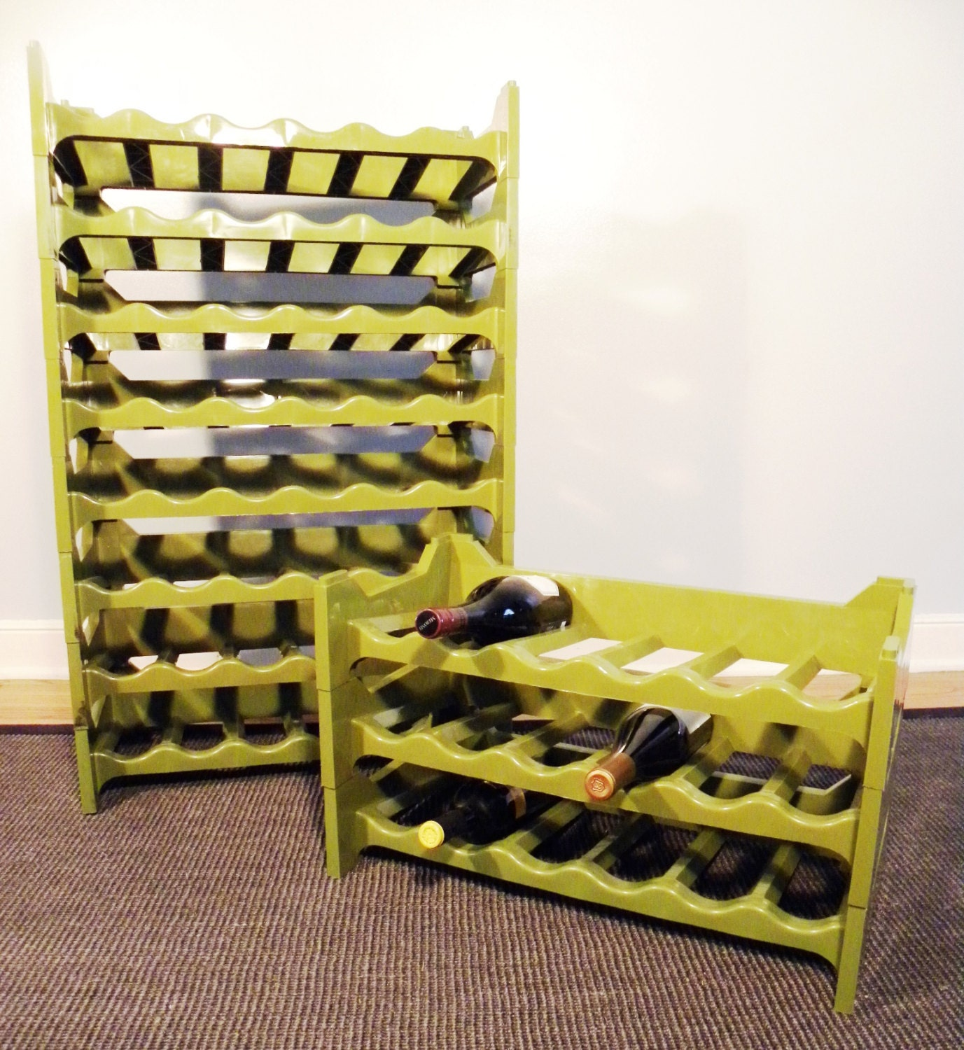 funky wine modular wine racks sold as a by