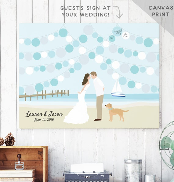 wedding guest book beach theme sign in book party guest book