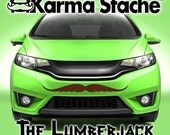 """36"""" Car Mustache Vinyl Decal Sticker - Style; Lumberjack - Color; Brown  -  Karma Stache: Your #1 Source for Car Mustaches!"""