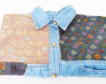 jeans shirt, denim shirt woman