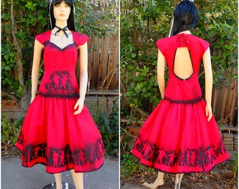 Zombie Lydia Deetz of Beetlejuice Dress // Lydia Wedding Dress Costume //  Zombie Dress // Halloween Dress // Red Undead Dress