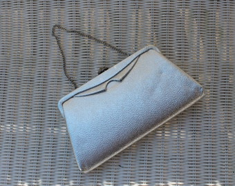 Shiny Silver Clutch Evening Bag