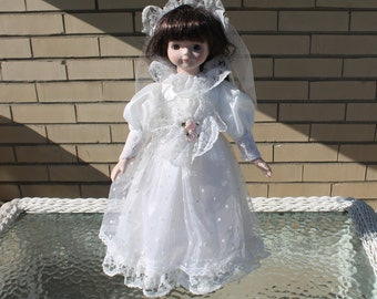 Porcelain Collector Bride Doll