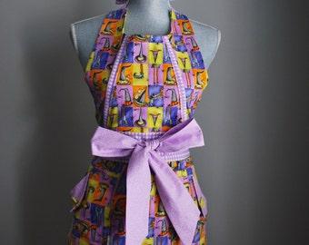 The *Halloween* Daisy • full apron - baking apron - gift idea - cooking apron - ladies - retro - vintage