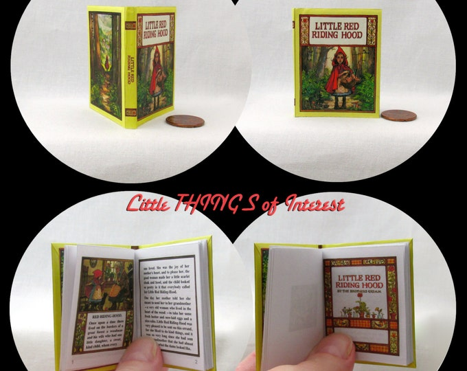 """LITTLE RED RIDING Hood Book 18"""" American Girl Doll Accessories 18 inch Ag Doll 1/3 Scale"""