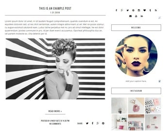 Premade Blogger Template - Instant Download - Fashion - Blog Template - Blog Design - Blog Theme - Blogger Theme