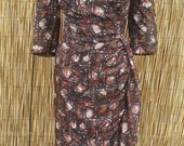 Vintage 60's Rare Plus Size Silk Made in Great Britain Jacqmar Dress