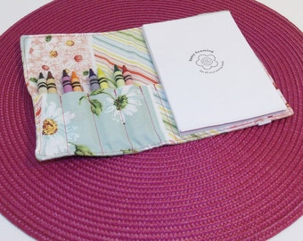 Coloring Notebook Daisies multi color stripes