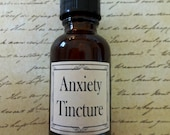 Anxiety Herbal Tincture  Anxiety Relief, Tension Aid, Emotional Upset, Panic Attack Relief, Anxiety Aid, Natural Anxiety Aid