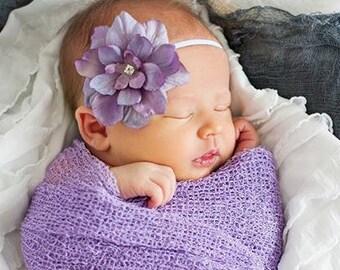 Lavender Newborn flower headband, Photography Prop