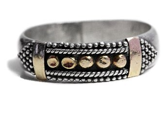 Belt Ring sterling silver gold