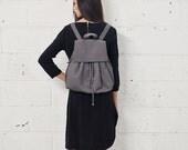 Sale 20% Off Leather Backpack, Gray Leather Satchel, LapTop Bag, Travel Backpack, Rucksuck - Alice Bag