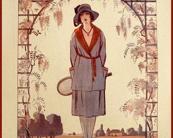 La Vie Parisienne Tennis, 1920s Print