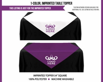Custom Imprinted Table Topper Runner for MLM Sales Reps, Great for Event Displays