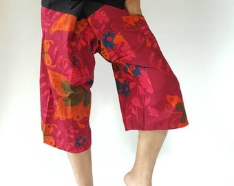 F30001 3/4 Thai fisherman/Yoga are pants Free-size: Will fit men or woman
