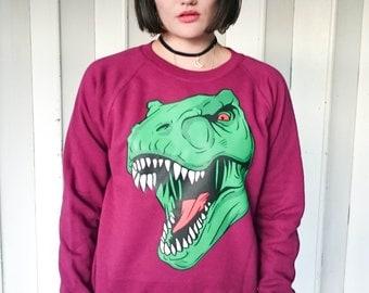 Dinosaur T-Rex Head Dinosaur jumper, Dinosaur sweatshirt, Dinosaur sweater, Dinosaurs, Jurassic Park, T-rex sweatshirt, T-rex, Jurassic, New