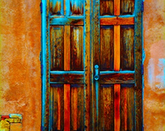 Orange Doors of Santa Fe