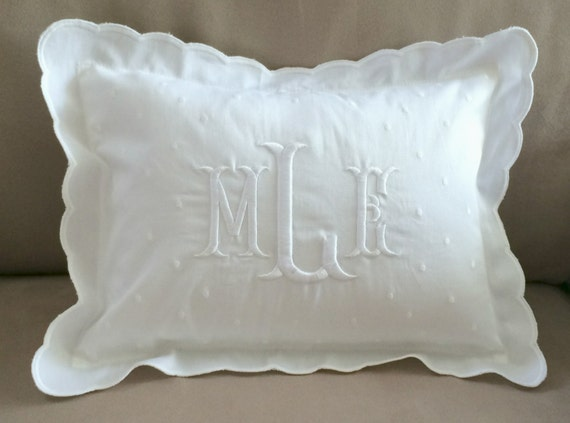 Monogrammed Baby Pillow Crib Nursery Pink By