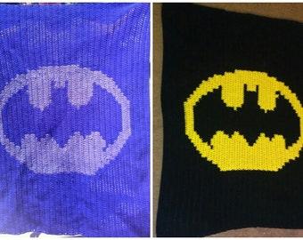 Knitting Pattern For Batman Blanket : Batman blanket Etsy