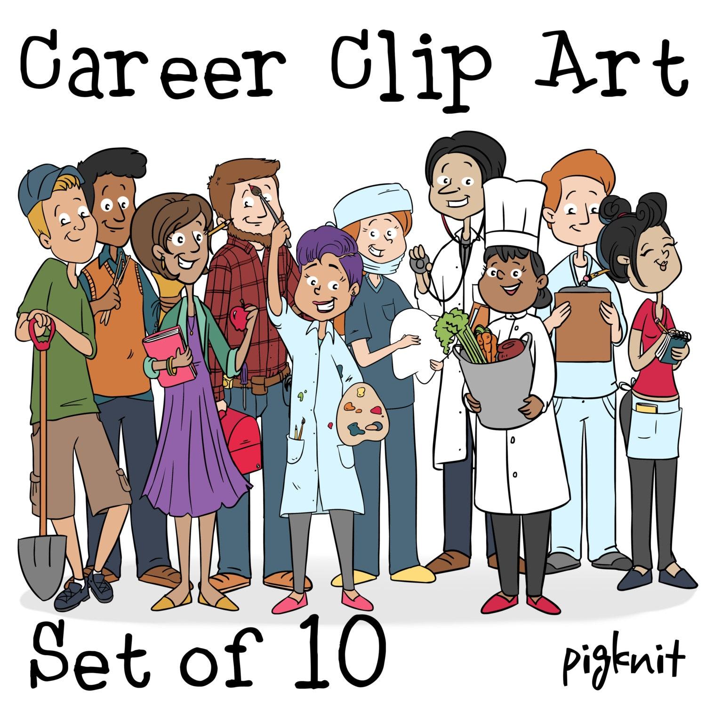 Career Clip Art Nurse Clipart Teacher Clip Art Dentist by ...