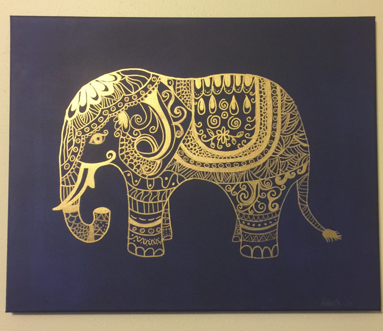 painted indian elephant wallpaper - photo #24