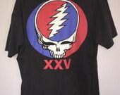 Amazing Grateful Dead Tshirt XXV dated on bottom 1990 Original