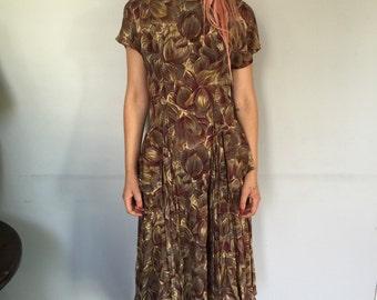 Mave and Burgundy Peplum Dress