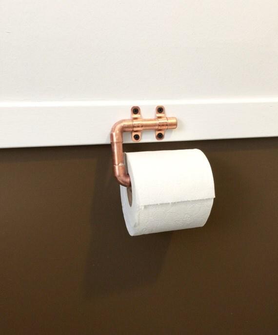 tube industriel en cuivre papier toilette support d cor. Black Bedroom Furniture Sets. Home Design Ideas