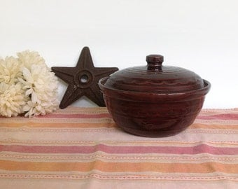 Vintage MarCrest Daisy and Dot, Daisy and Dot Covered Casserole, Vintage Stoneware 48 Ounce Covered Casserole , Rustic Country Casserole