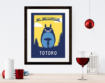 My Neighbour Totoro Print   /  Available in A4, A3, A2, A1, A0