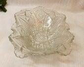 Antique Depression Glass Vegetable Serving Bowl Pressed Glass