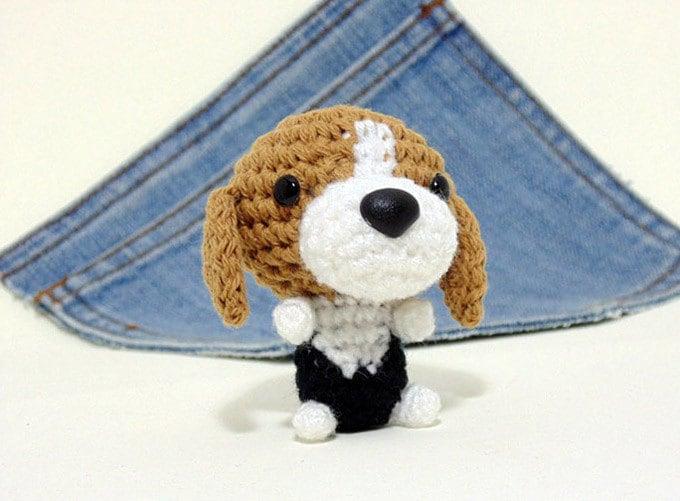 Amigurumi Beagle crochet Beagle Puppy Dog toy. Beagle