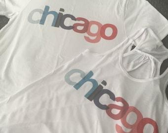 Chicago Tank Top | Chicago Shirt | Chicago T-Shirt |  Chicago Gift | Chicago Wedding | Chicago Tanks | Women's Tank Top |  Chicago Shirts