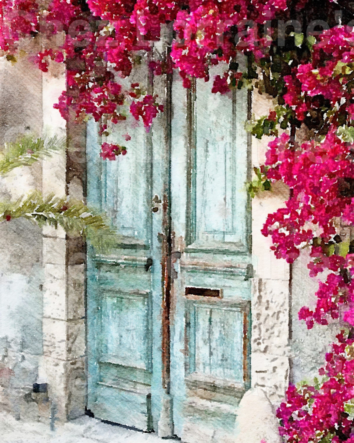 The cottage door a fine art french cottage chic - Cuadros shabby chic ...