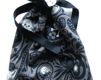 Halloween Lined Drawstring Trick or Treat Bag