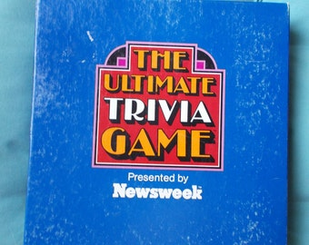 Vintage Newsweek The Ultimate Trivia Game 1984 Complete