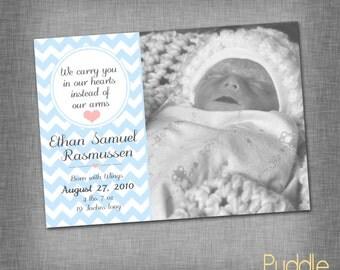 Sweet Stillborn Birth Announcement